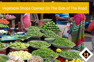 Vegetable Shops Opened On The Side of The Road
