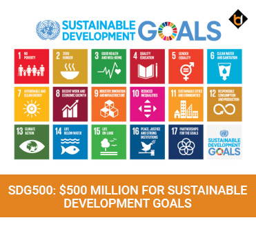 SDG500 $500 Million For Sustainable Development Goals