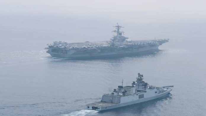 India and US Navy undertake passage exercise in eastern Indian Ocean, INS Shivalik participates
