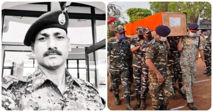 The mother has not yet been informed that the eldest son of the house has been martyred while fighting the Naxalites.